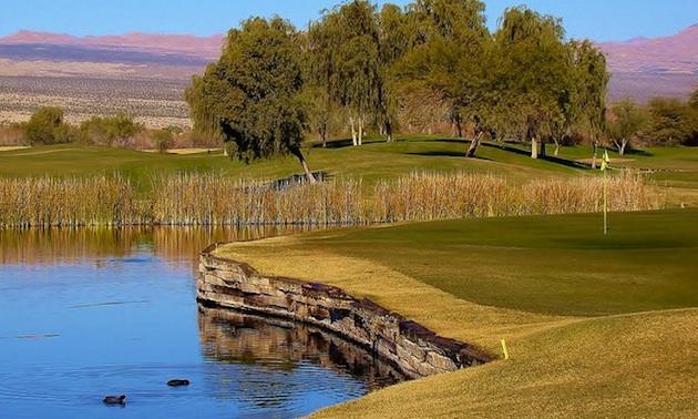 Hole 17, Mojave Resort Golf Club.