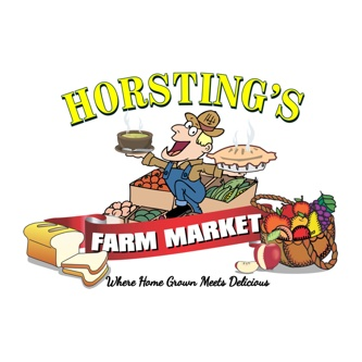 Horsting Farm Market logo.