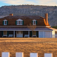 A frontier house at Fort Verde State Park in Camp Verde, Arizona