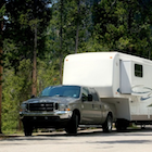 Truck and fifth wheel trailer