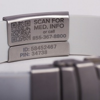 A photo of a MYID band.