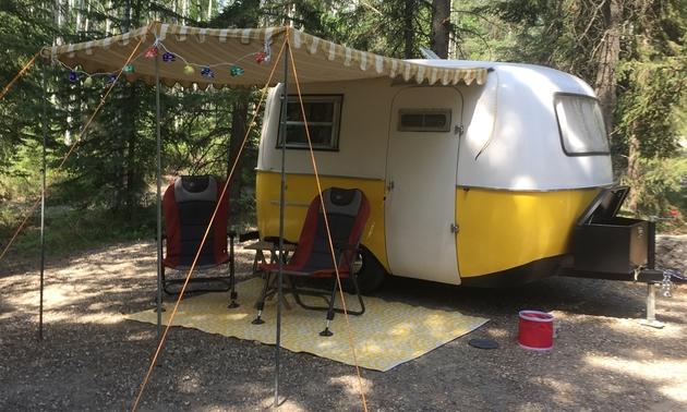 Yellow Boler finished with restoration