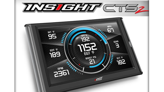 Insight CTS2 digital gauge display.