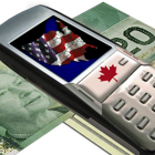 An image that depicts using a Canadian cell phone in the United States.