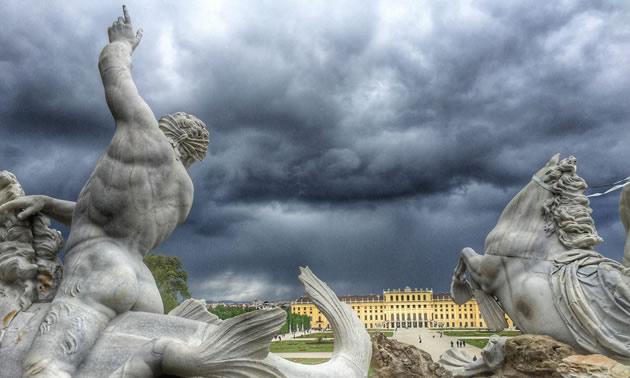 Neptune Fountain, Schönbrunn, Vienna, Austria.