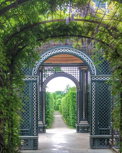 Gardens at Schönbrunn Palace, Vienna, Austria.