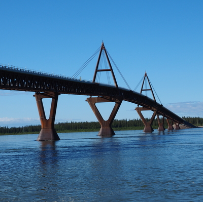 The Dehcho bridge is a sight to see.