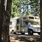 A shady spot at Lac Le Jeune Provincial Park campground.