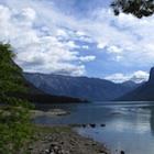 Lake Minnewanka in Banff National Park.