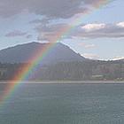 rainbow over Lake Koocanusa, BC