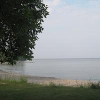 View of the shore of Lake Winnipeg.