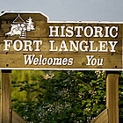 sign entering Fort Langley heritage town