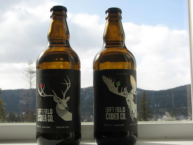 Bottles of cider from Left Field Cider Co.