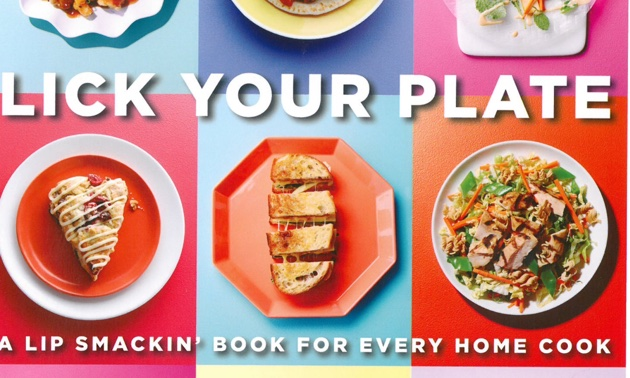 The cover of Lick Your Plate by authors Julie Albert and Lisa Gnat.