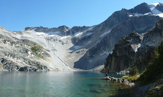 Lillooet mountains and lake