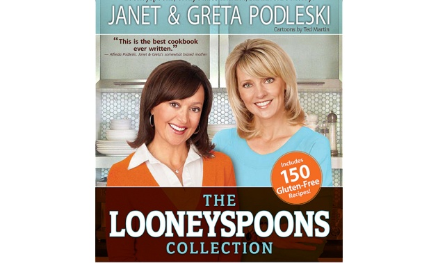 The front cover of the Looneyspoons Collection cookbook.