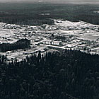 This photograph is an aerial perspective of Mackenzie during 1972.