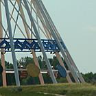 large metal teepee