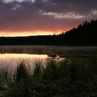 Sunrise at Miller Lake, a quiet and beautiful setting.