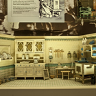 Nuremberg Turn of the Century Kitchen, Moritz Gottschalk, ca.1909, Germany. Found in the History Gallery, this miniature was intended to teach young girls useful homemaking skills.
