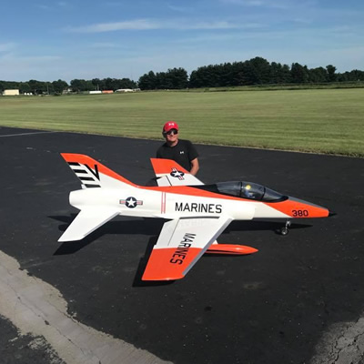Jonathan Smith flies jumbo jets for a living and remote-controlled jets for fun.