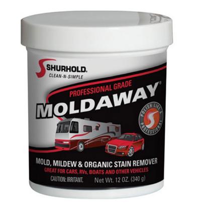 A photo of a 12oz jar of Moldaway.