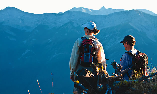 two people in the mountains of Fernie BC