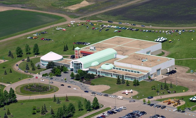 The view from the sky of the Reynolds-Alberta Museum in Wetaskiwin.