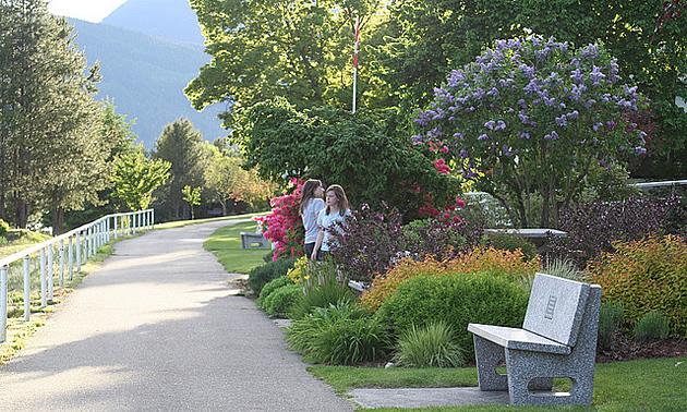 waterfront boardwalk in Nakusp, BC