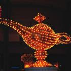 Aladdin's lamp done in neon lights