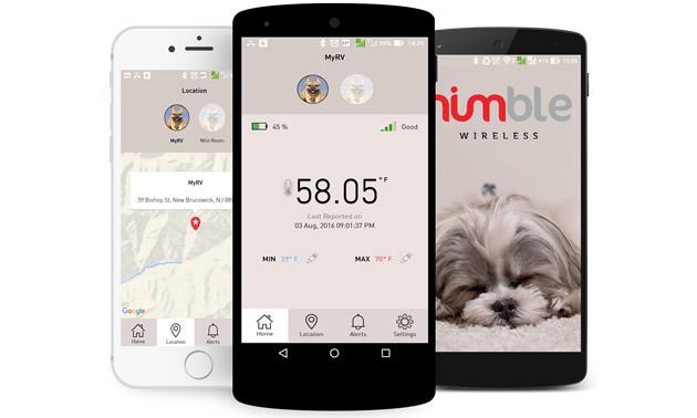 College of Nimble Pet Monitor screens.