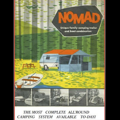 A truly unique unit, this vintage Nomad 3-in-1 trailer was restored by RV reno enthusiasts Howard and Lori.