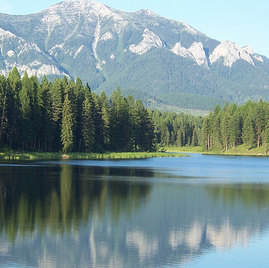A view of Northstar Lake from the south shore.