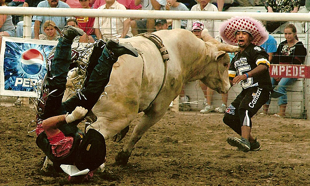 cowboys falling off horse