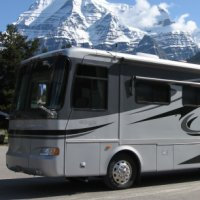 RV camping in Mount Robson