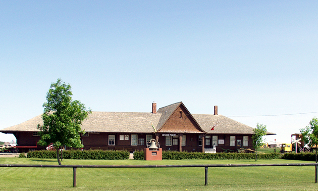 A photo of the front of the Outlook & District Heritage Museum in Outlook.