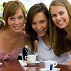 ladies enjoying coffee outside