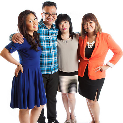Left to right: Maya, Kasim, Lindawaty and  Angela Padmanadi