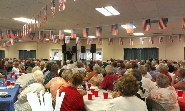 Passport America members enjoying an evening of entertainment at their rally in Lebanon, Tennessee last June.