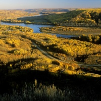The breathtaking view of the magnificent Peace River Valley at the south end of 100th St. in Fort St. John, BC.
