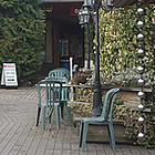island shop and seating area