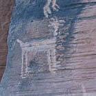 Petroglyphs on a rock
