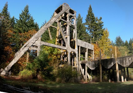 Remains of a concrete above ground mine.