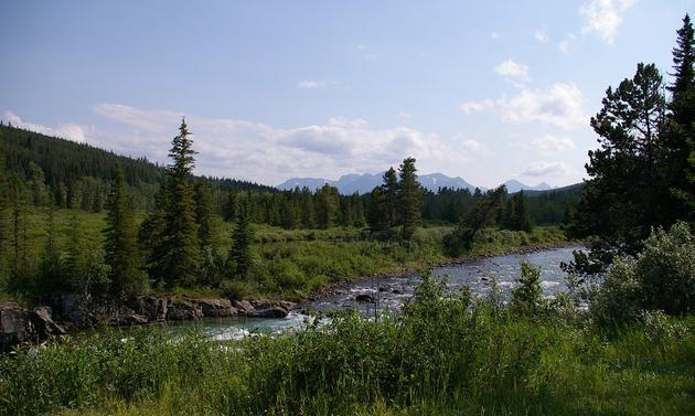 Castle River near Pincher Creek, Alberta.