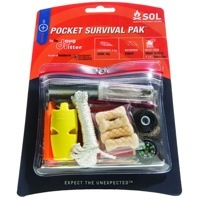 A pocket survival kit.
