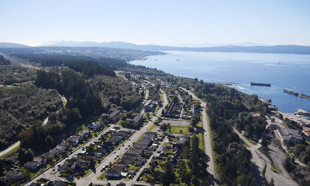 Powell River from above
