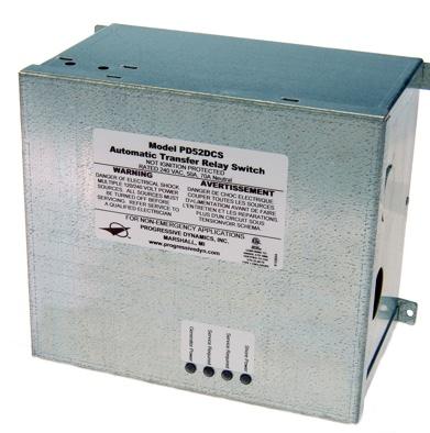 Progressive Dynamic's Model PD52DCS automatic transfer switches.