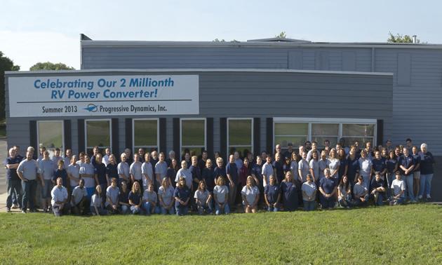 Group photo from summer 2013 at Progressive's 2,000,000 converter celebration.