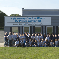 Group photo from summer 2013 at Progressive's 2,000,000 converter celebration.