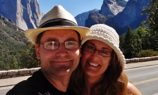 Ray and Anne at Yosemite Park.